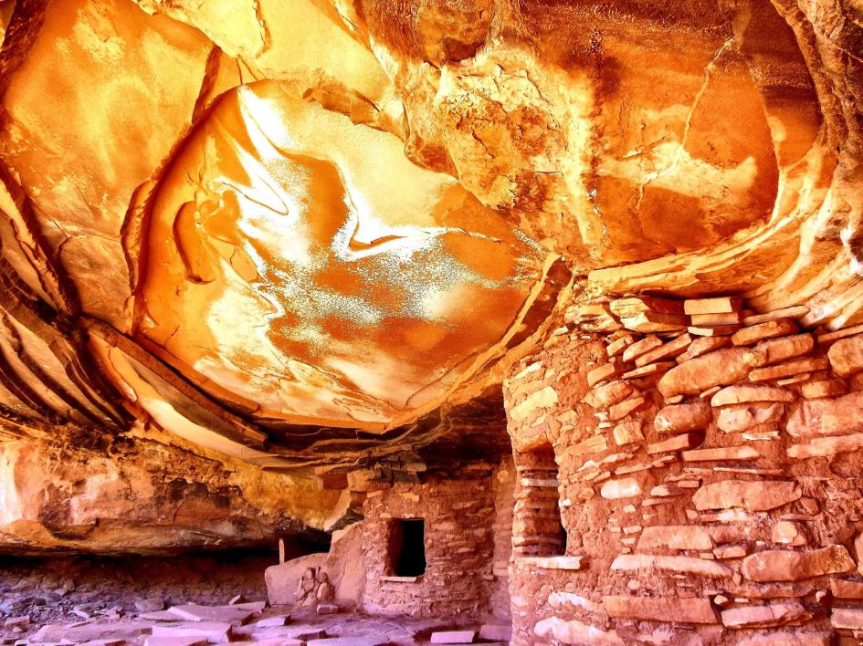 Up in FlamesDavid Regela took this picture at just the right time, so that the sunlight made this Anasazi granary—commonly called House on Fire—look like it really was aflame. He won the historical category for this photo taken in Cedar Mesa, Utah. PHOTOGRAPH BY DAVID REGELA