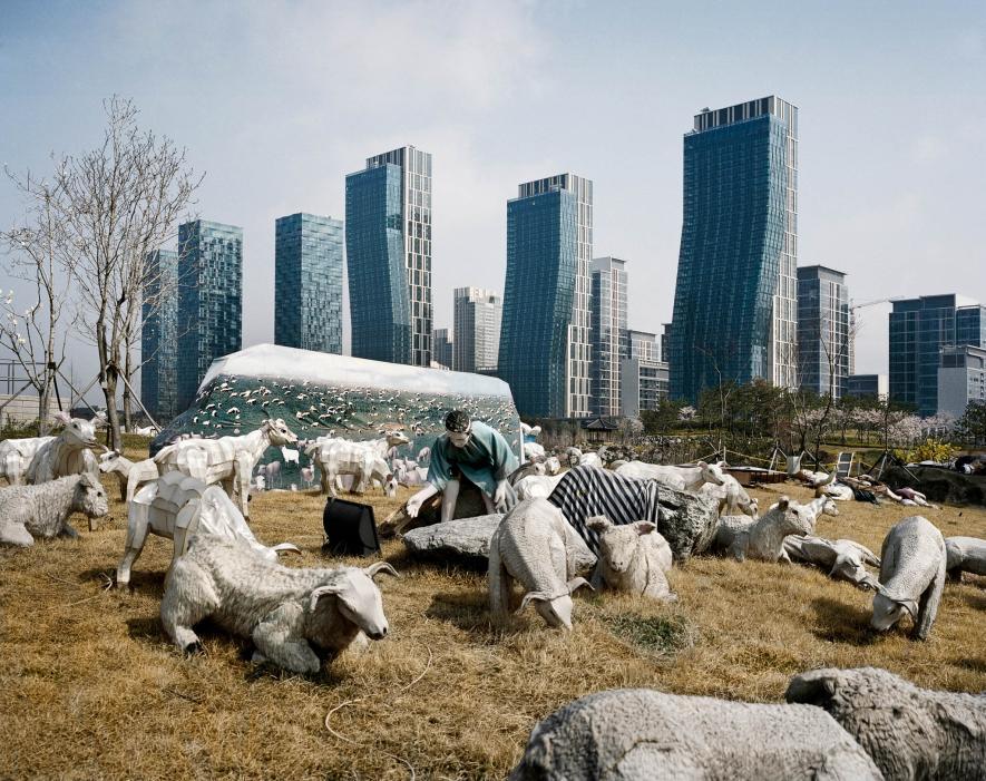 Sculptures in New Songdo, South Korea